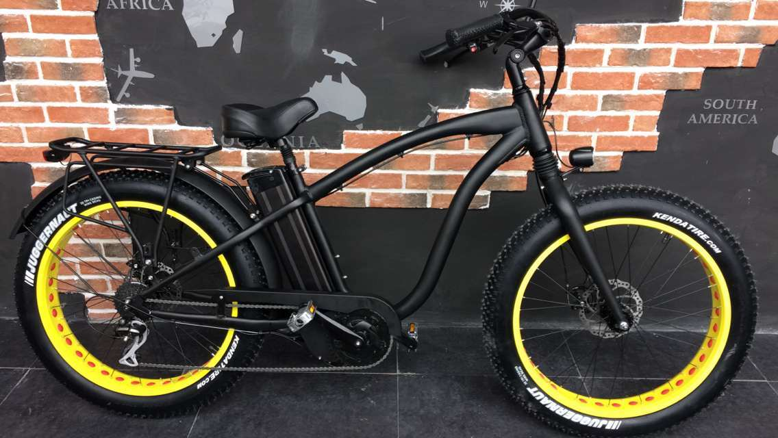 "2017 Hot Sale 48V 1000W MID Drive Electric Bicycle with 26""*4.0inch Fat Tyre"