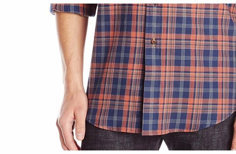 Men′s Dress Long Sleeve Classic Fit Plaid Shirts