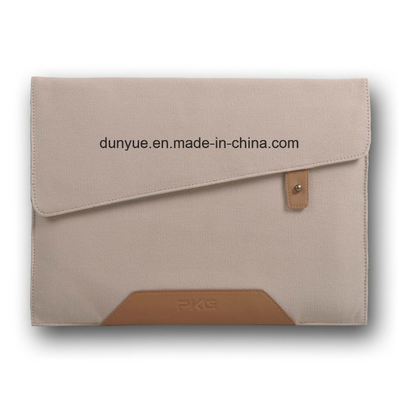 Young Design Thin Cotton Canvas Durable Laptop Briefcase, Customized Simple Style Laptop Sleeve,
