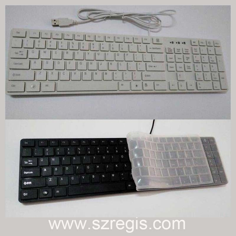 USB Wired Keyboard for Apple Universal Slim Multimedia Laptop Computer Keyboard