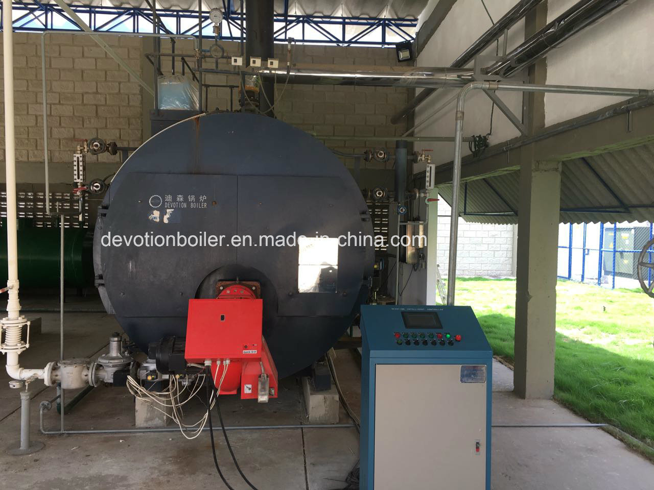 Gas/Oil Packaged Steam Boiler with European Burner and Siemens Control Panel