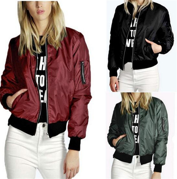2016 Fashion Design Plus Size Classic Collar Zipper Ladies Jacket (T010)