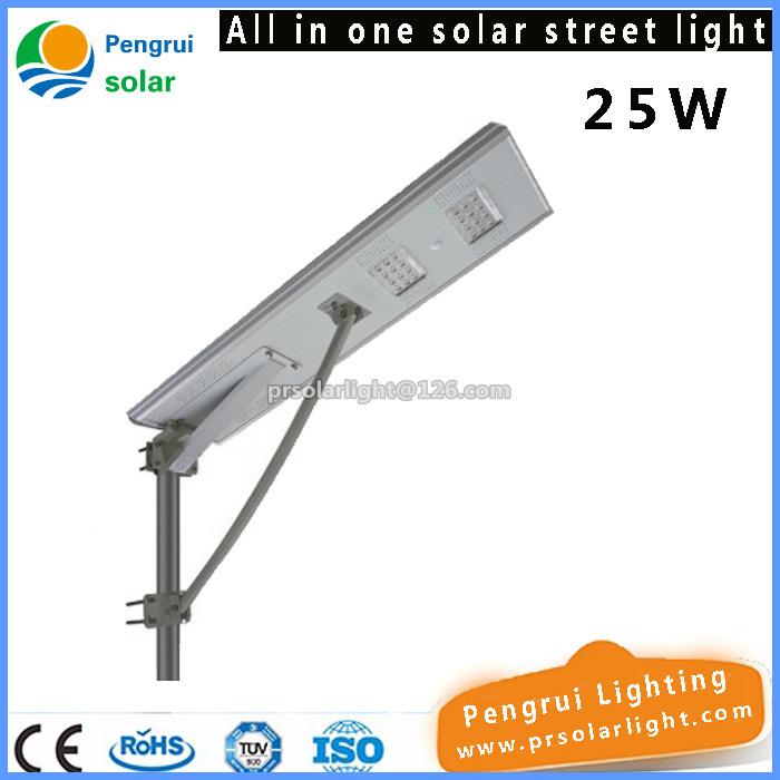 25W Ce RoHS IP65 Outdoor Garden LED Solar Street Light