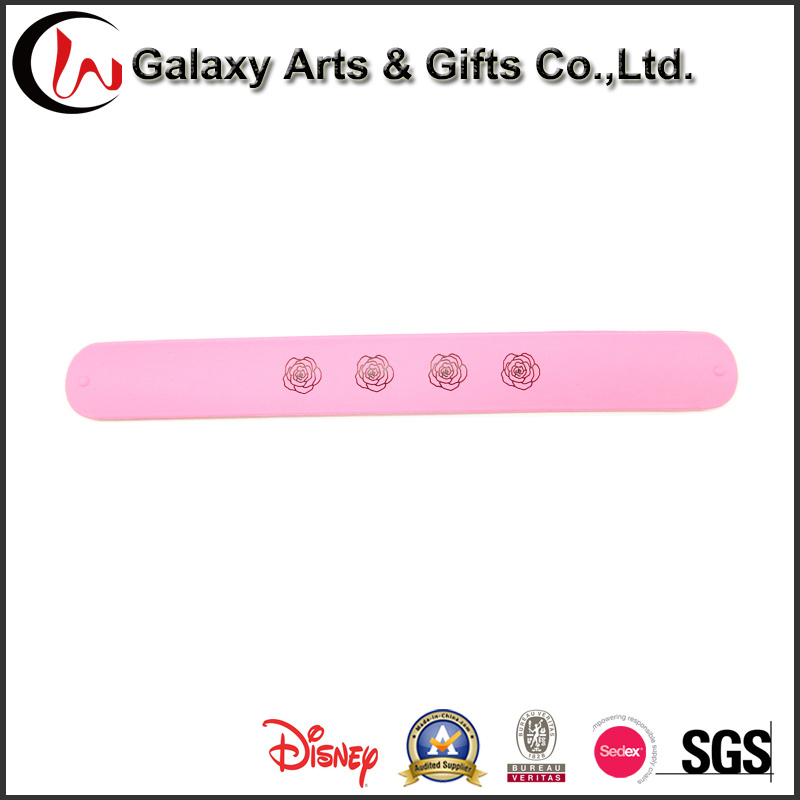 Customized Logo Popular Silicone Promotion Souvenir Silicone Slap Bracelets as Advertising Gifts