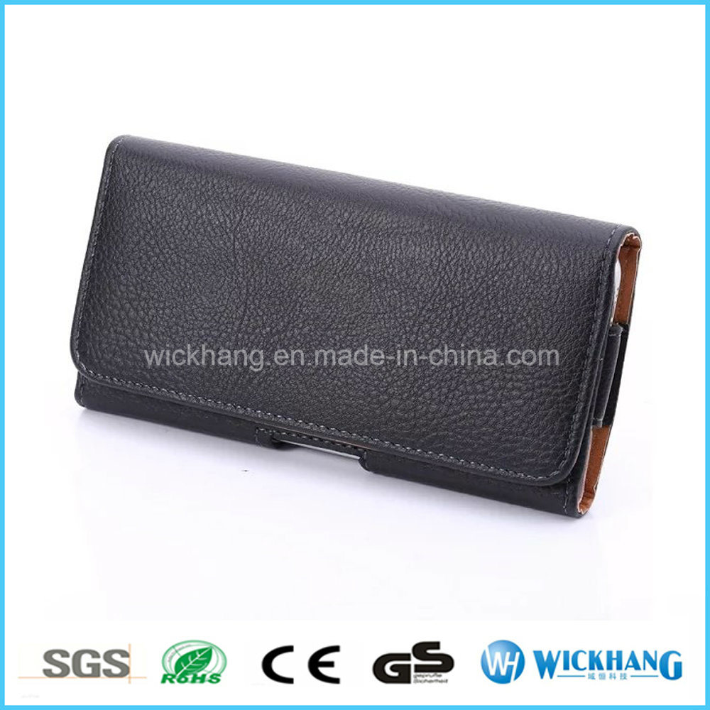 Horizontal Leather Belt Clip Universal Pouch Case for Apple iPhone 8