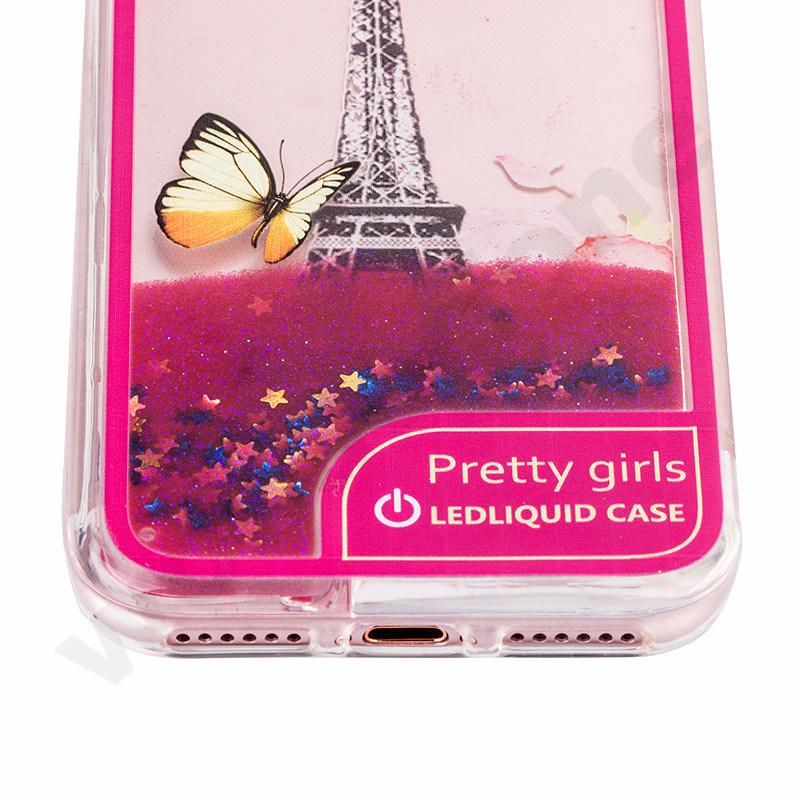 Glitter LED Liquid Quicksand Case Mobile Phone Accessories for iPhone 7