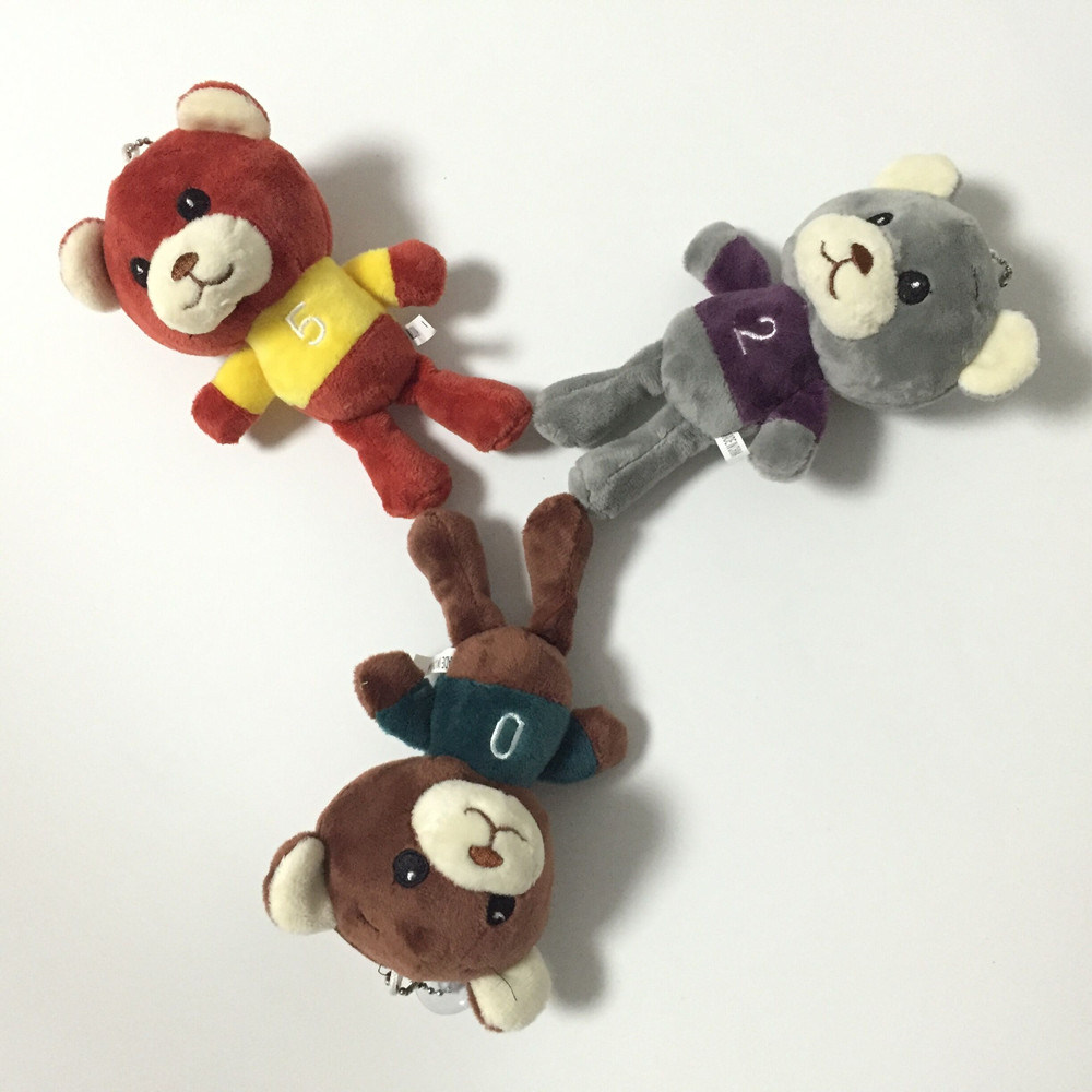 Grey Fancy Soft Stuffed Plush Cute Monkey Hotsale Toy Keychain