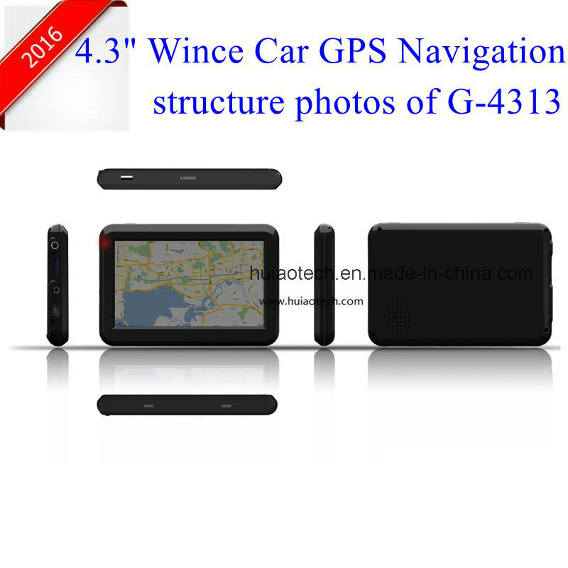 "New 4.3"" Car Potable Dash GPS Navigator with Bluetooth, FM Transmitter, Tmc, ISDB-T TV Function, AV-in for Parking Camera, Map with Speed Camera GPS-4313"