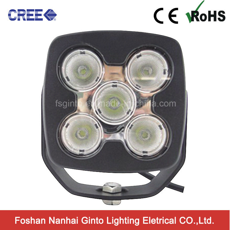 High Intensity Square 50W Truck CREE LED Car Work Lightgt1025-50W)