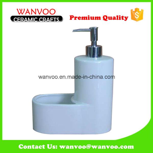 Excellent Quality White Ceramic Liquid Soap Dispenser