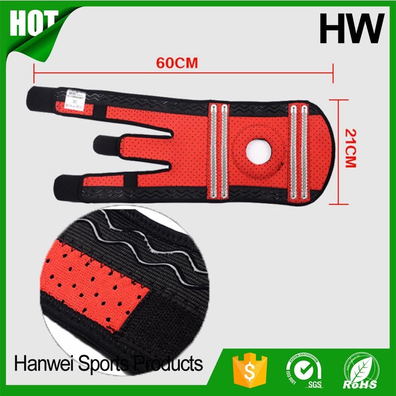 Top Quality Sport Compression Patella Wrap Safety Knee Sleeve (HW-KS003)