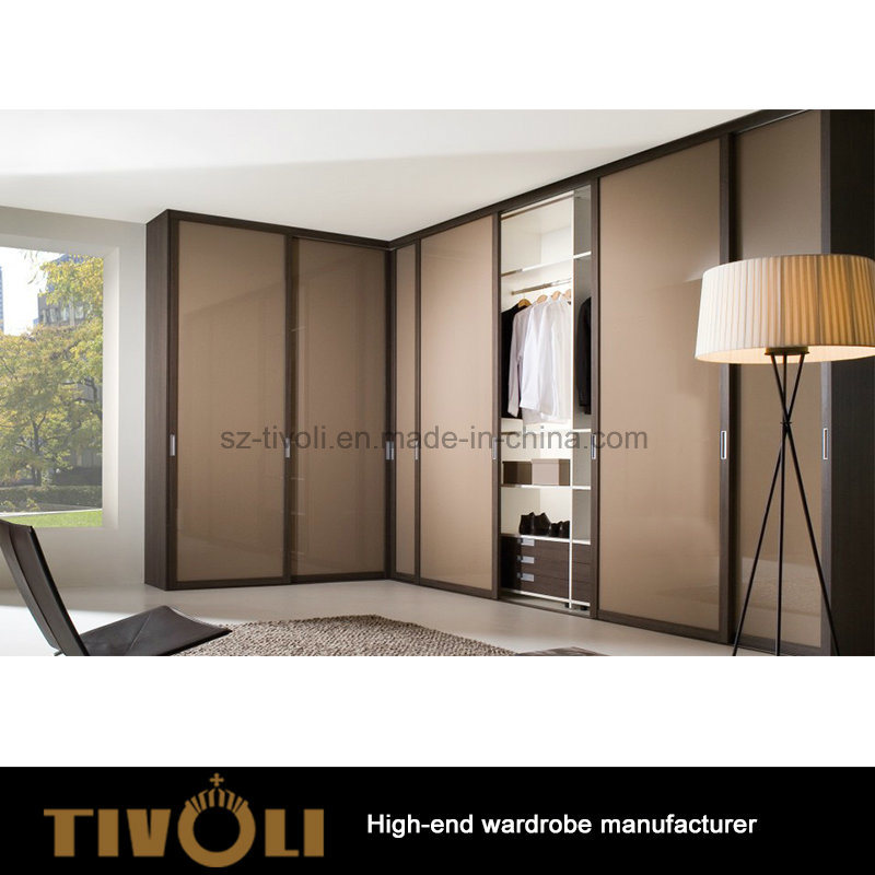 Sliding Door Storage Wooden Wardrobe Closet Tivo-0040hw