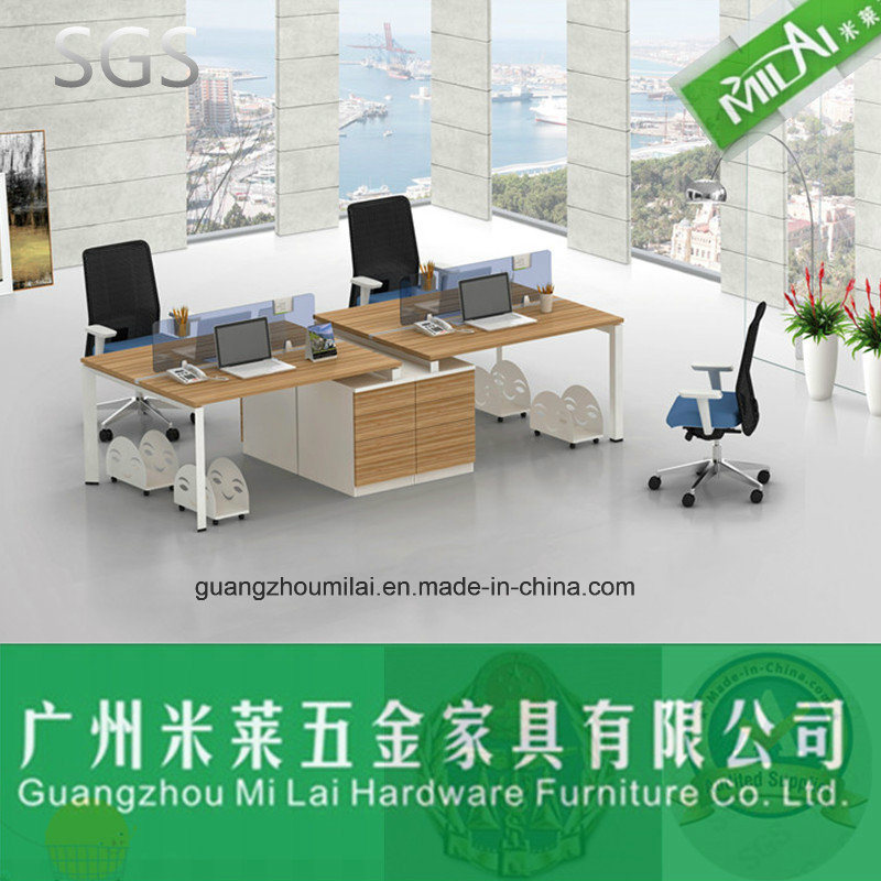 High Quality Steel Leg Double Side Office Workstation with Fixed Pedestal