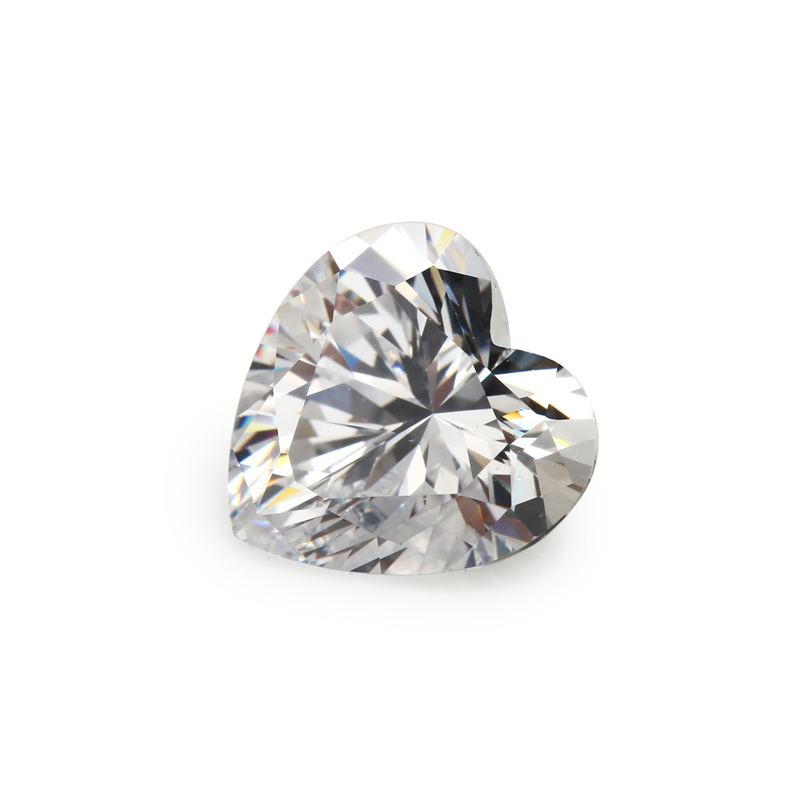 Loose Gemstones Heart Shape Cubic Zirconia Stone