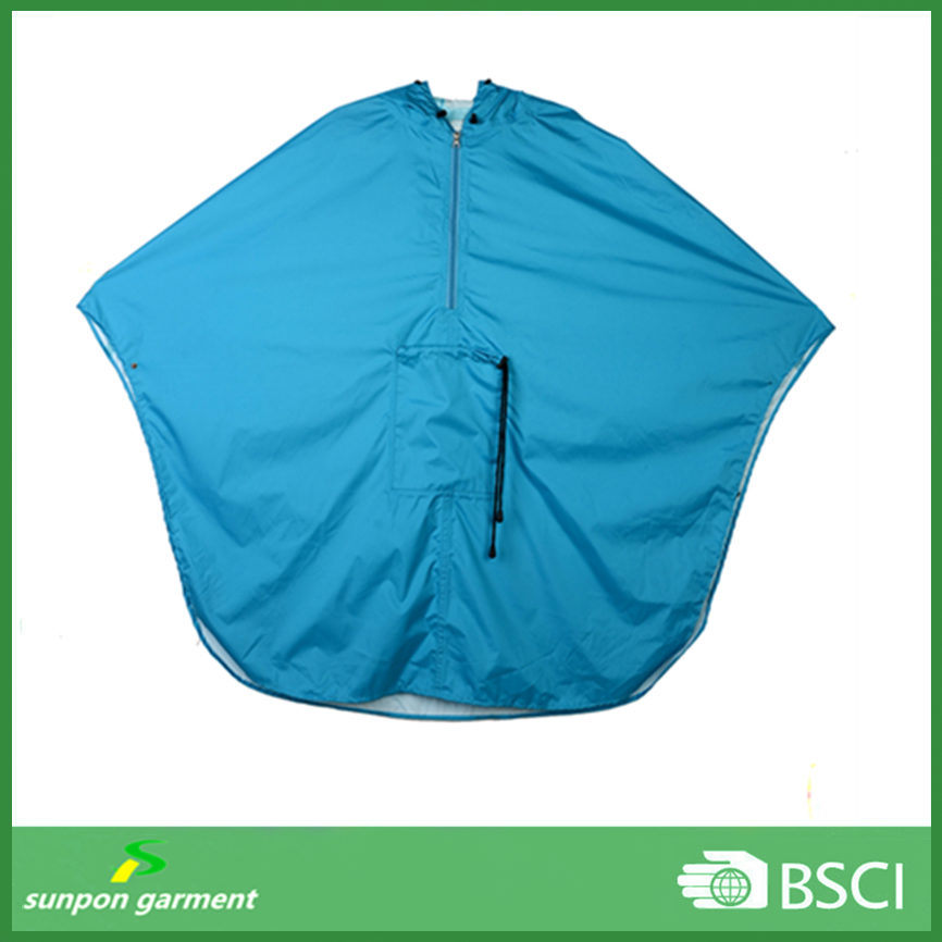 Polyester or Nylon Fabric with PU Coating Rain Coat