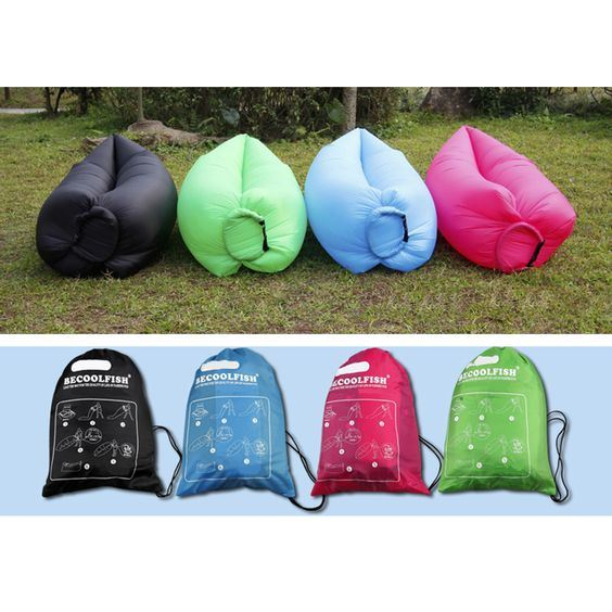 High Quality Nylon Ripstop Air Sleeping Bag Sofa Air Bed Sofa Inflatable Camping Sofa