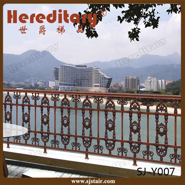 Decorative Ornamental Anti Rust Metal Aluminum Veranda Railing Balcony Fence