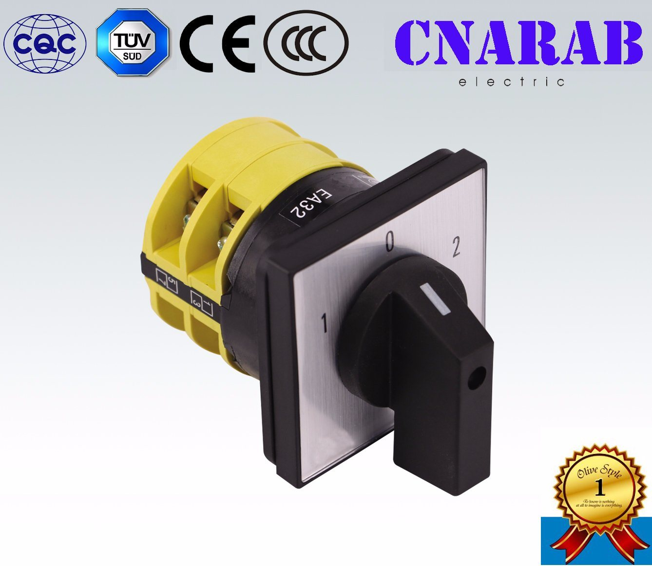 16A/20A 1-0-2 Changover Switch Ce Certificate