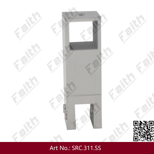 Die Casting Stainless Steel Toilet Partition Brackets to Glass