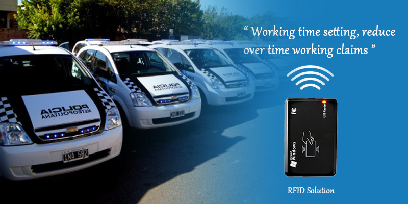 RFID with GPS Tracker for Driver ID Identify