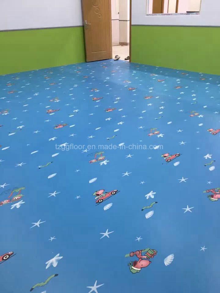 Children Colorful Waterproof Anti Slip Floor UV Coating PVC Vinyl Flooring