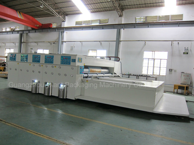 Economic Semi Auto Chain Feeder Flexo Printing Machine