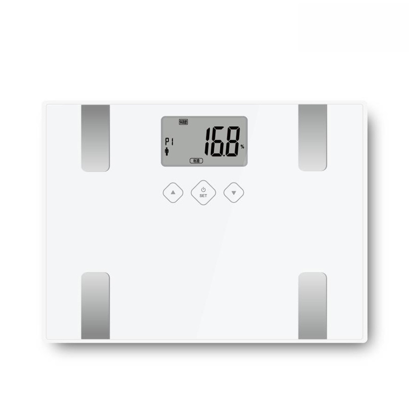 Electronic Body Fat Scale with Large Glass Platform&LCD Display
