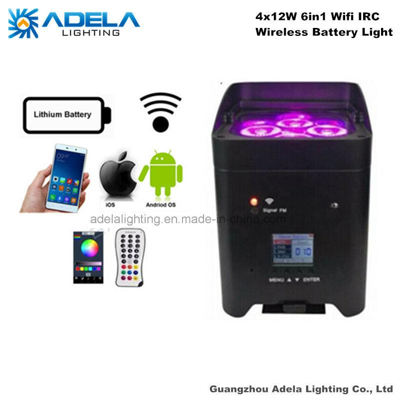 4X12W 6in1 WiFi Irc Wireless Battery Light Uplight