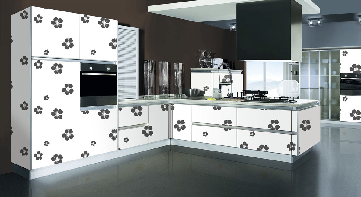 China laminate kitchen cabinets dm 9628 china laminate for Laminate kitchen cabinets
