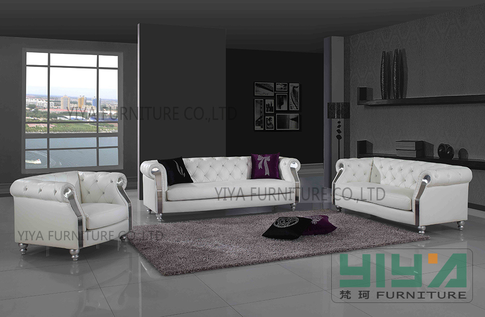 Living Room Furniture Sofa Set Y825   China Leather Sofa  Living Room