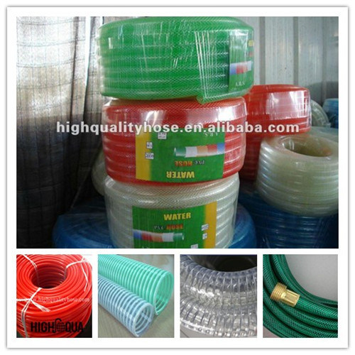 2014 Hot Product Non-Smell PVC Hose for Fiber / Steel Wire / Spiral Reinforced