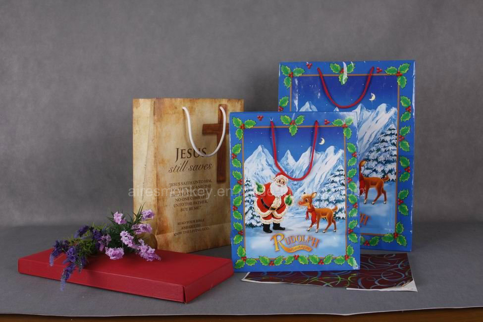 Factory Price Top Quality Christmas Gift Paper Bags