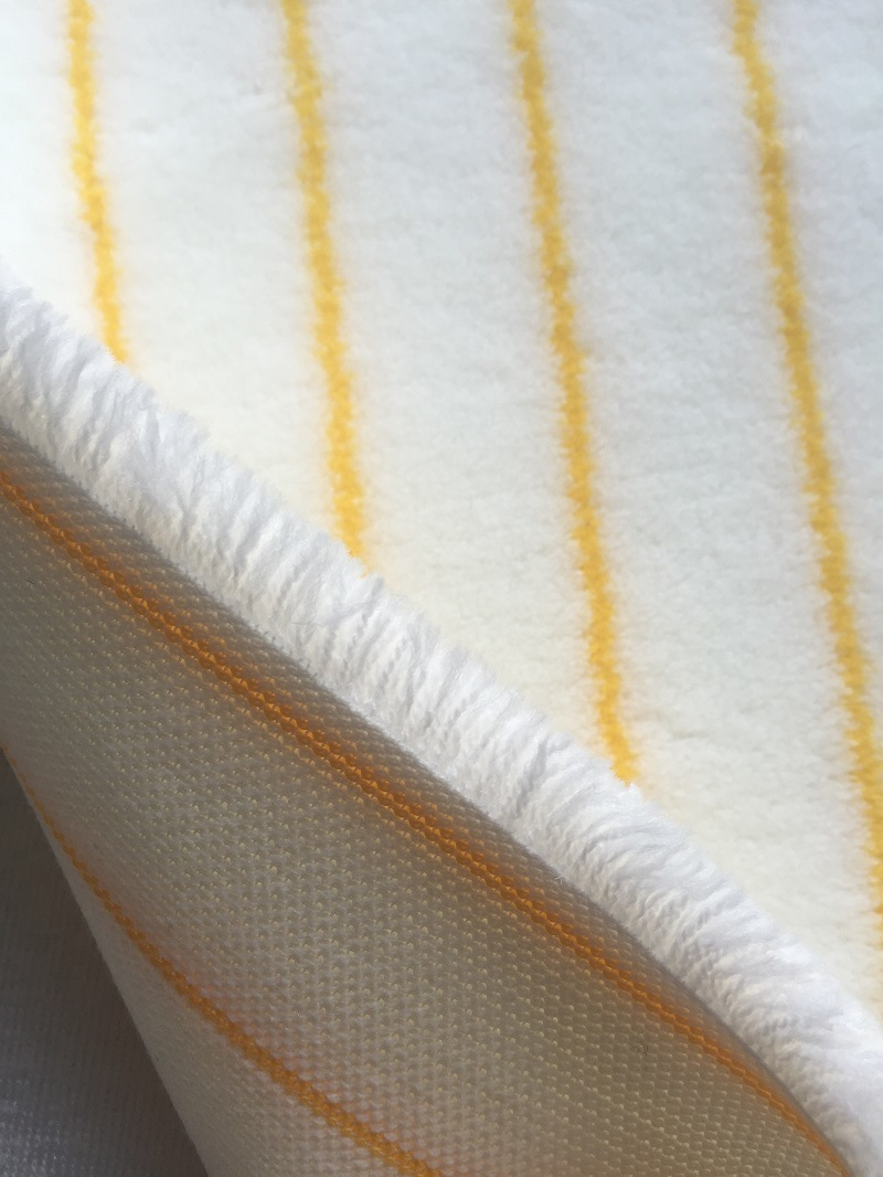 Senhe 720GSM 12mm White and Yellow D144 Fabric