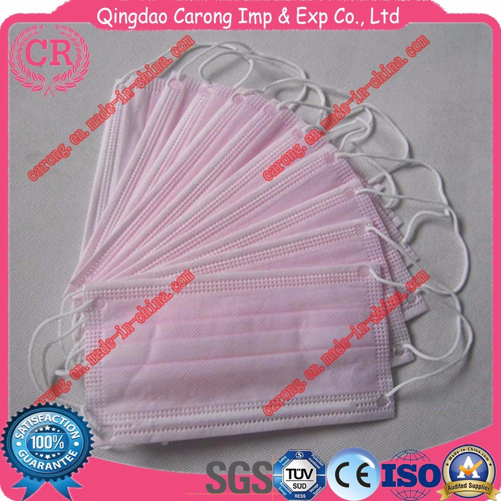 Sterile Nonwoven Medical 3 Ply Surgical Facemasks with Earloop or Tie on