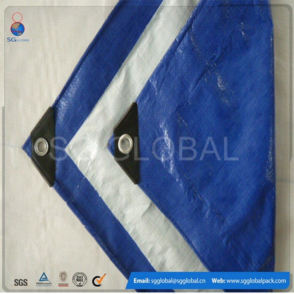 120GSM Waterproof Blue White PE Tarps