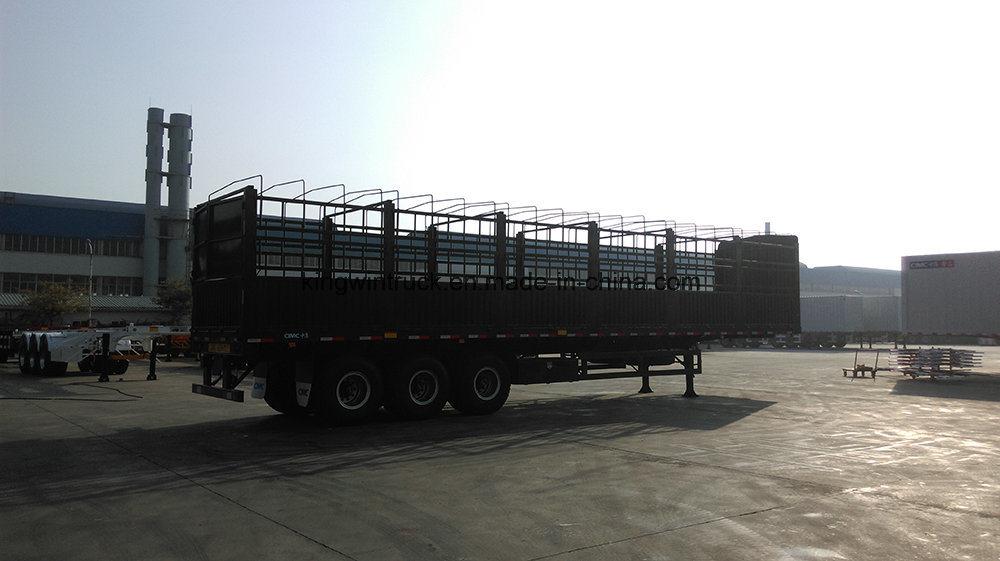 China Brand Three-Axle High-Wall Flatbed Trailer