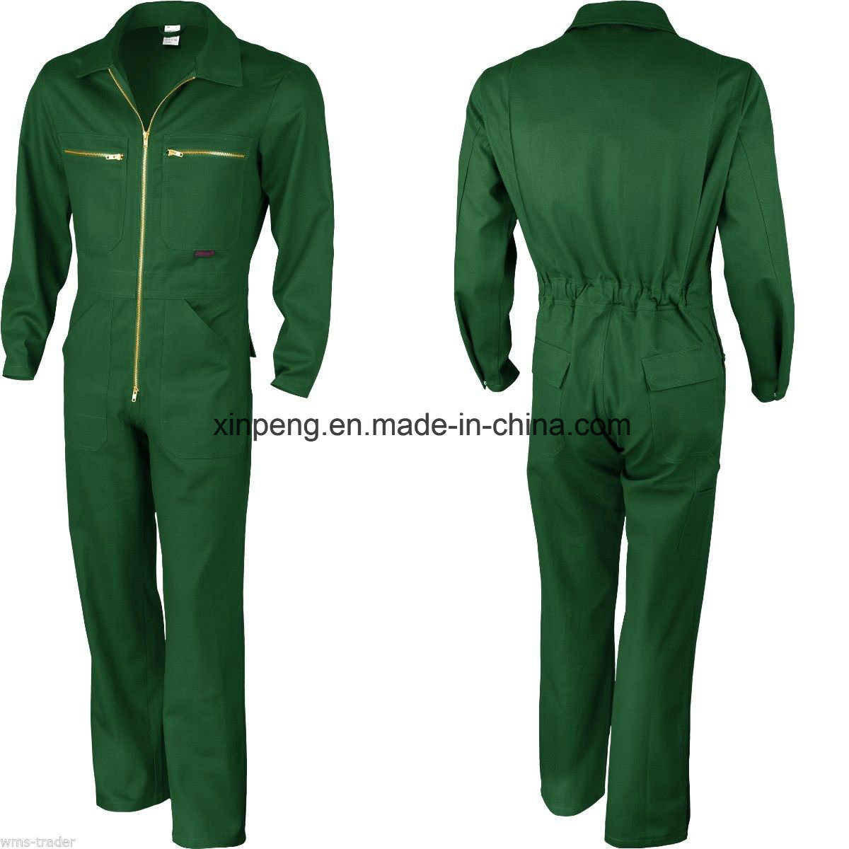 Safety Coverall with Chest Ykk Zipper