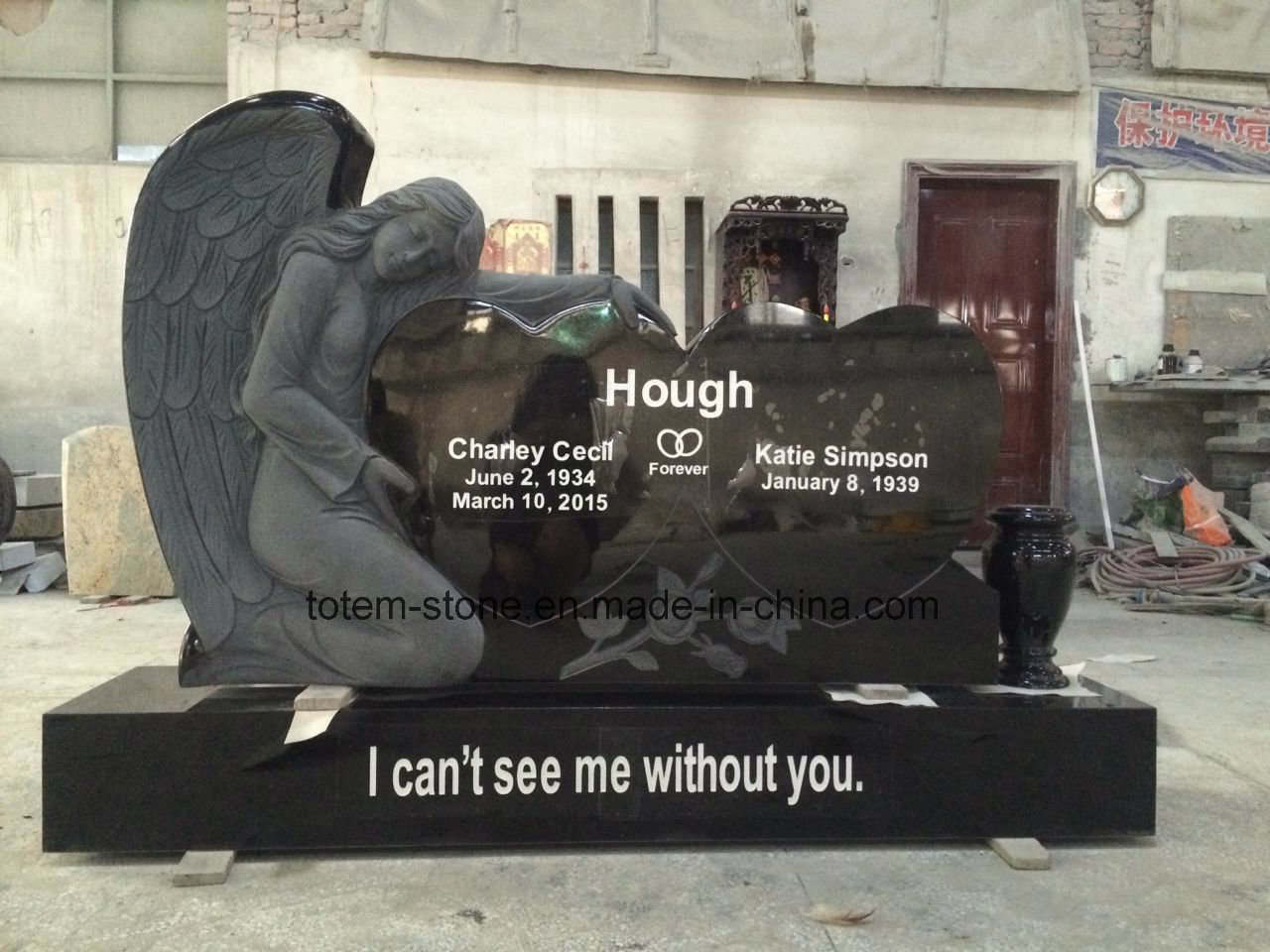 Granite Discount Grave Plaques Cemetery Memorial Stones Monuments Headstones for Sale