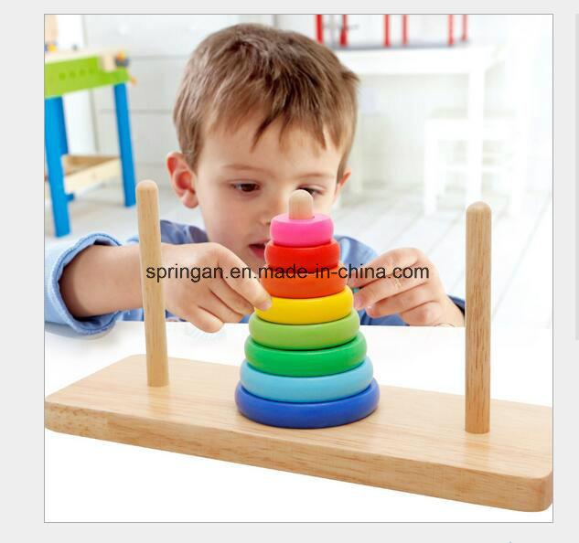 Educational Hanoi Rainbow Wooden Toys