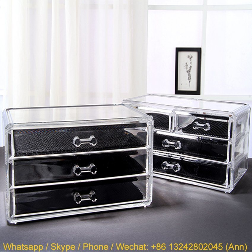 Stylish Three Layers Acrylic Cosmetics Display Stand/Makeup Box/Jewelry Box