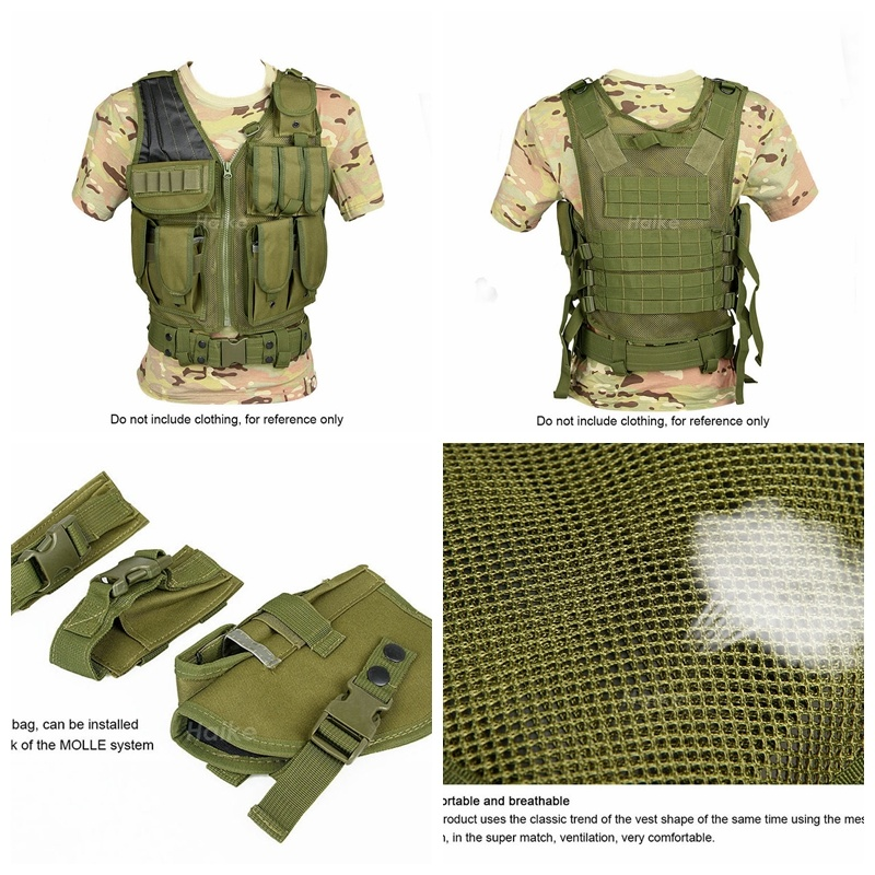 Tactical Army Combat Assault Oxford Fabric Defensive Mesh Vest Cl4-0031