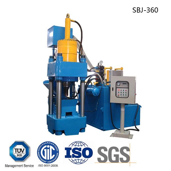 Briquetters Automatic Aluminum Iron Metal Scrap Hydraulic Briquette Recycling Machine-- (SBJ-360)