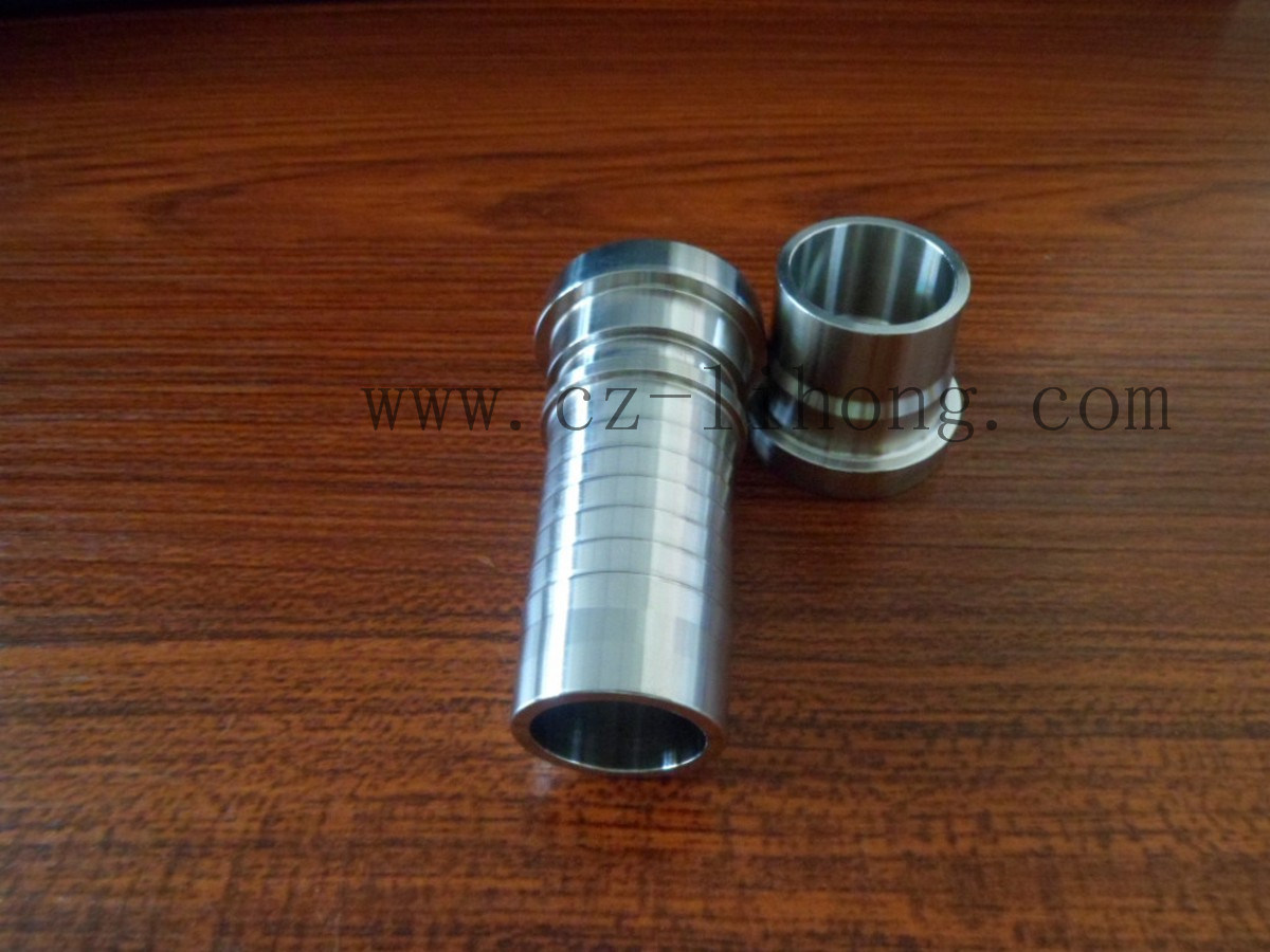 "3/8"" Stainless Steel 316 Hose Nipple From Casting or Pipe"