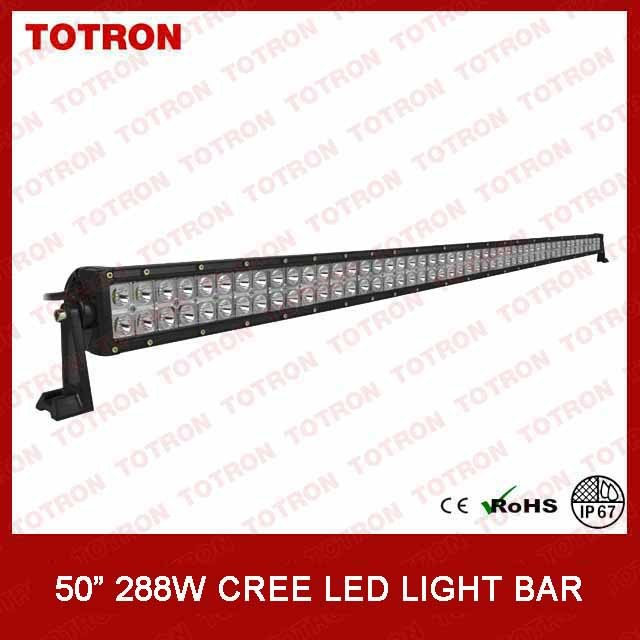 Totron 288W 50 Inch Double Row off Road LED Light Bar
