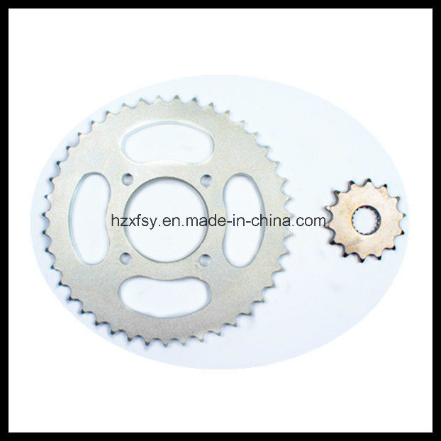 for Suzuki Katana 125 Sprocket 43t+14t 45mn Motorcycle Chain Sprocket