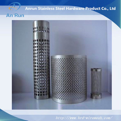 Perforated Metal Mesh Tube with Thickness 1mm