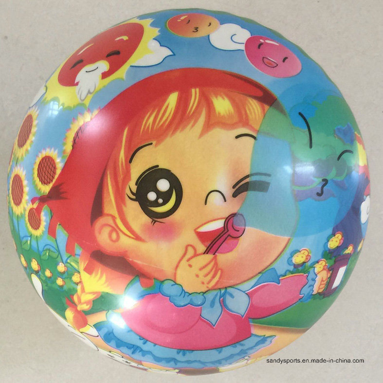 9 Inch Colorful PVC Inflatable Toy Full Printing Ball