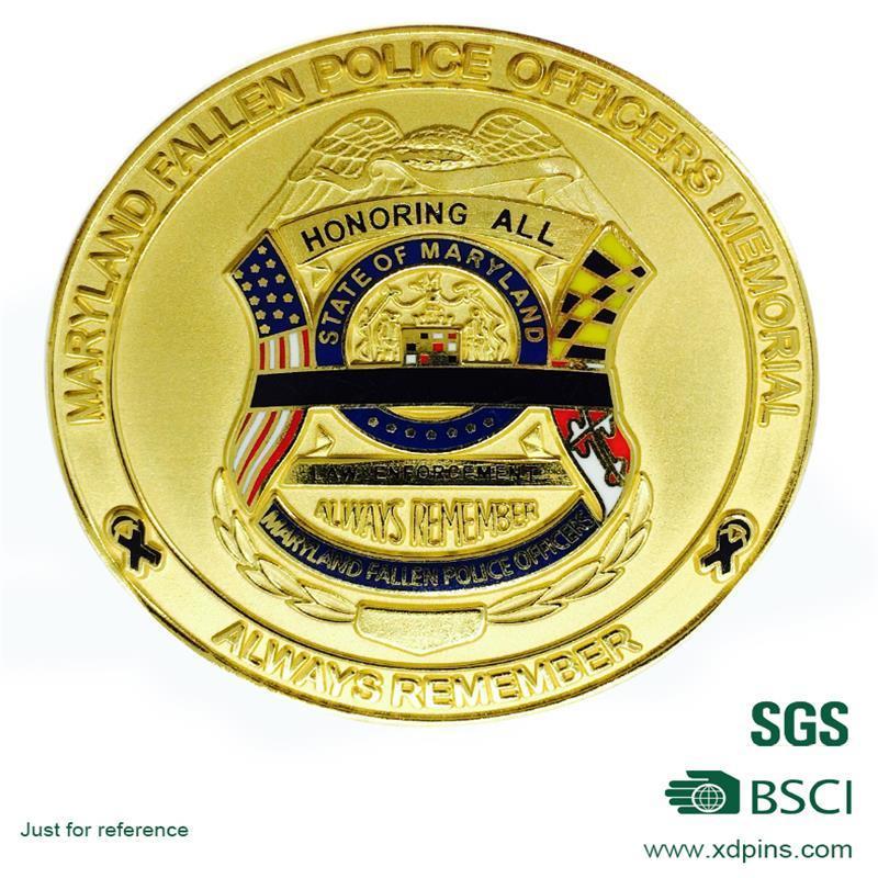 Custom Souvenir Coin with Imitation Enamel Finished