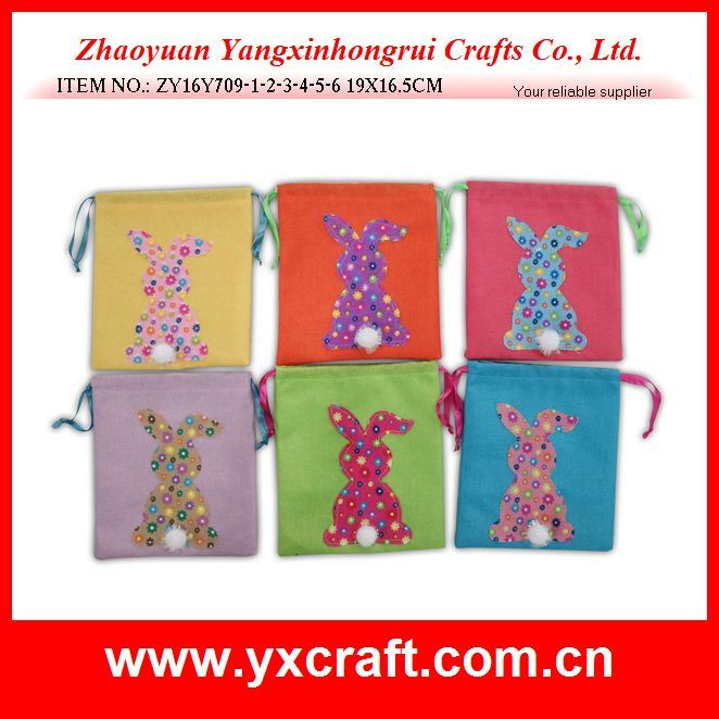 Easter Decoration (ZY16Y709-1-2-3-4-5-6) Easter Candy Bag Promotion Gift Party Items