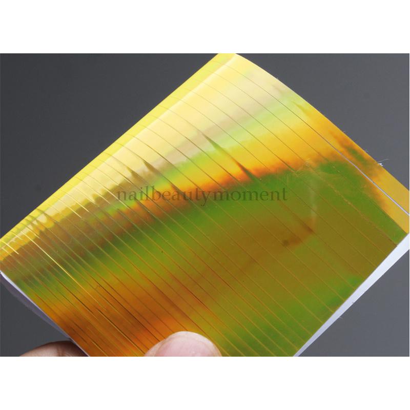 Nail Art Line Strip Tape Sheet Ultra Thin Laser Sticker Decal Decoration (D36)